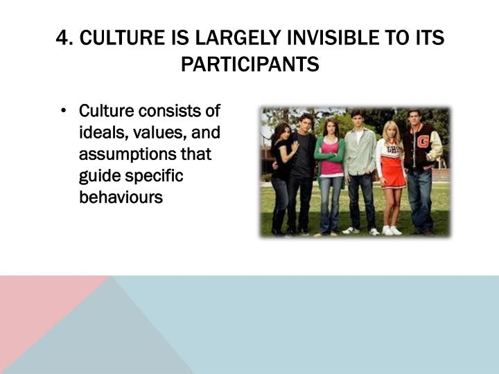 4. Culture is largely invisible to its participants