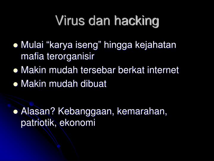 Virus dan hacking