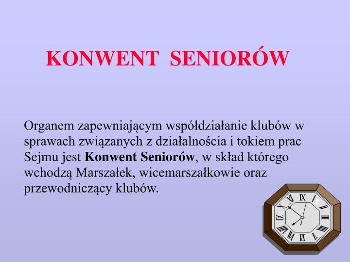 KONWENT  SENIORÓW