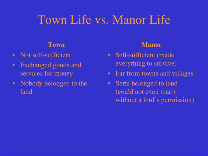 Town Life vs. Manor Life