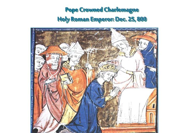 Pope Crowned Charlemagne