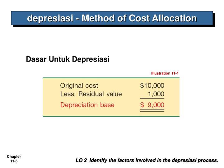 depresiasi - Method of Cost Allocation