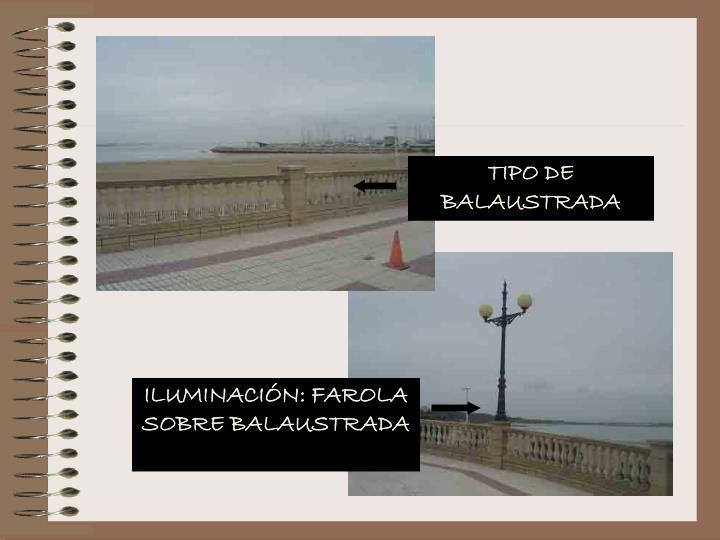 TIPO DE BALAUSTRADA