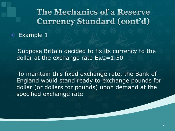 The Mechanics of a Reserve Currency