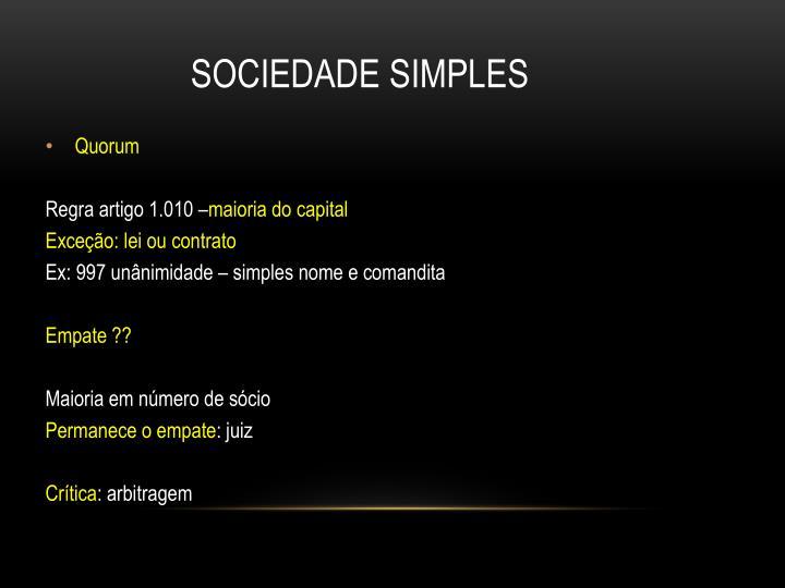 SOCIEDADE SIMPLES