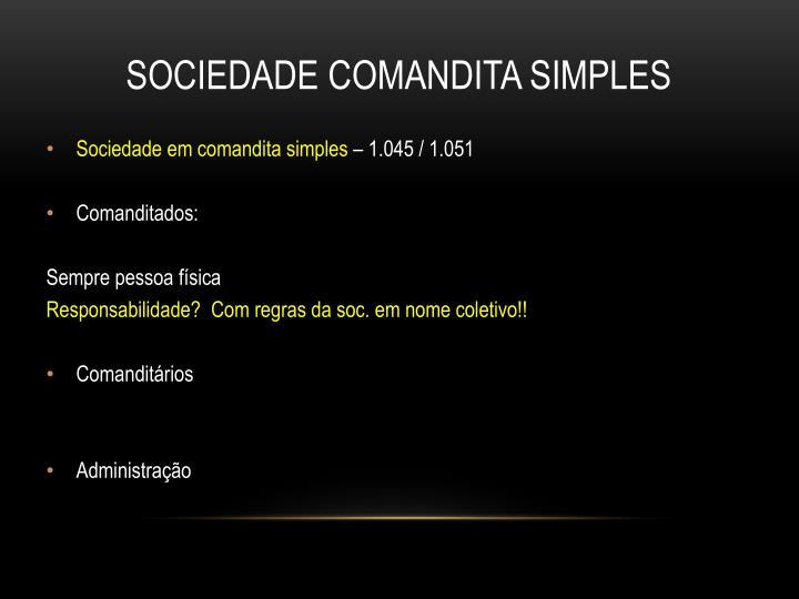 SOCIEDADE COMANDITA SIMPLES