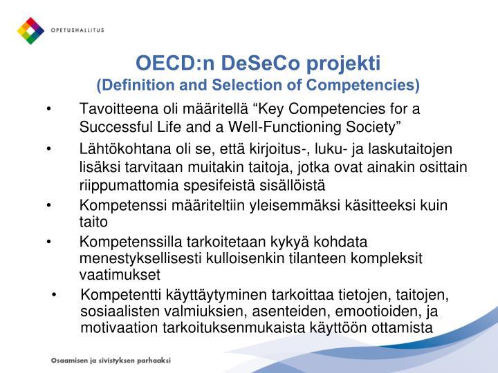 OECD:n DeSeCo projekti