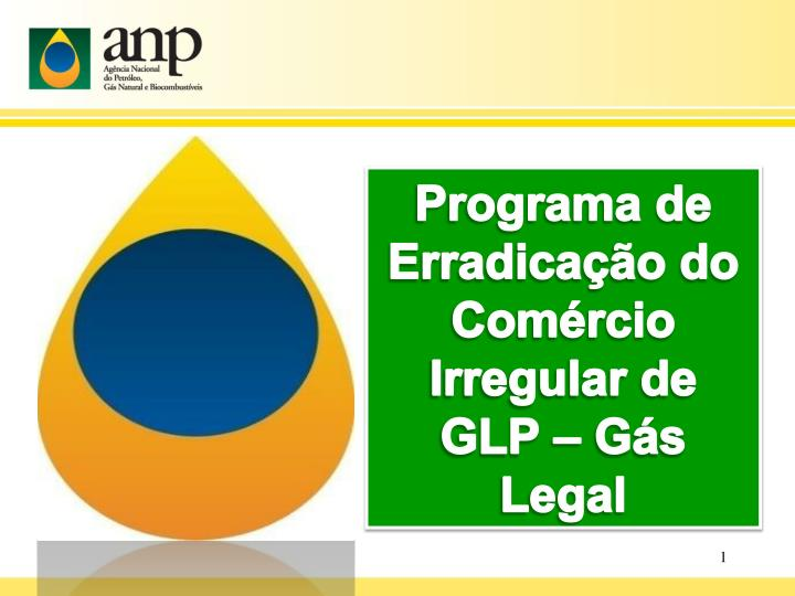 Programa de erradica o do com rcio irregular de glp g s legal