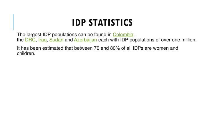 IDP statistics