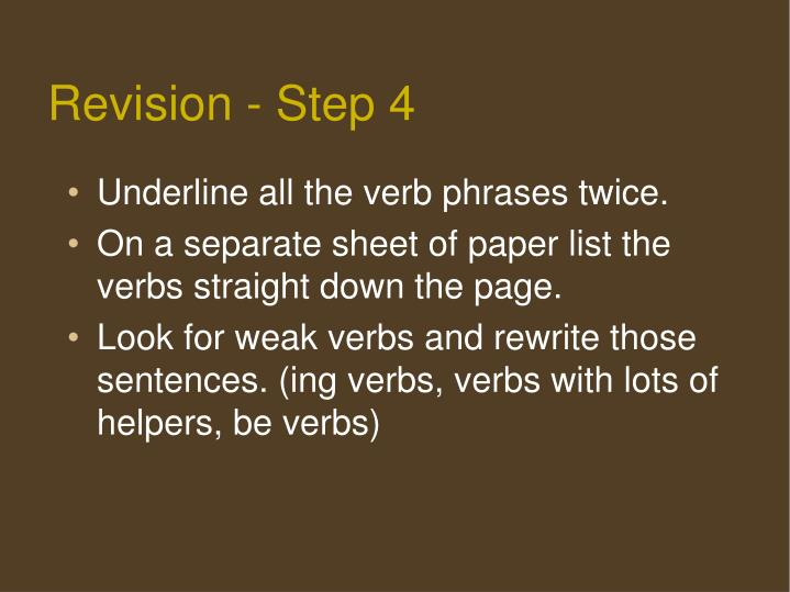 Revision - Step 4