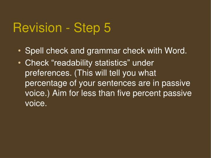 Revision - Step 5