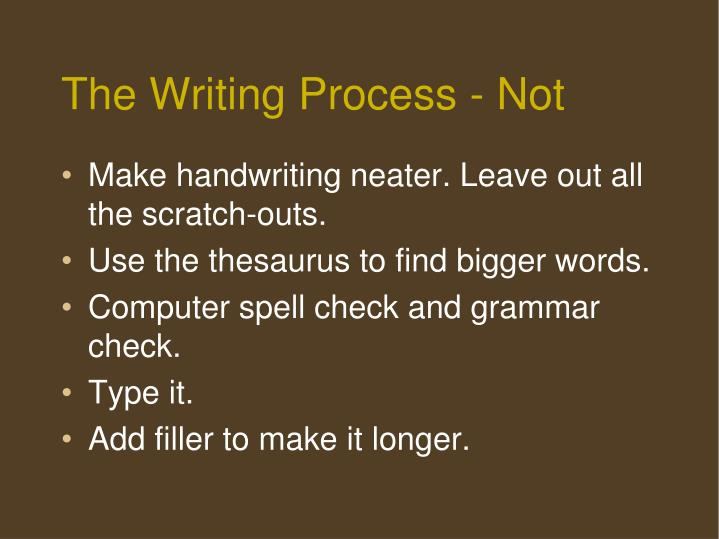 The Writing Process - Not