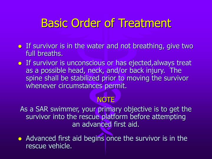 Basic Order of Treatment