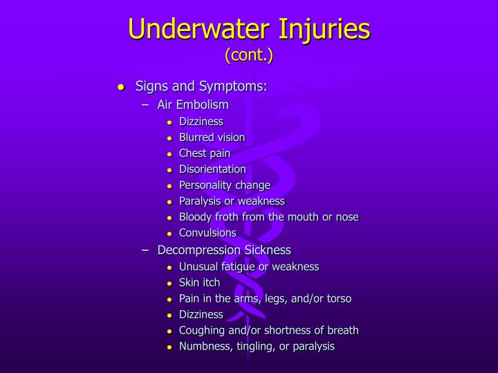 Underwater Injuries