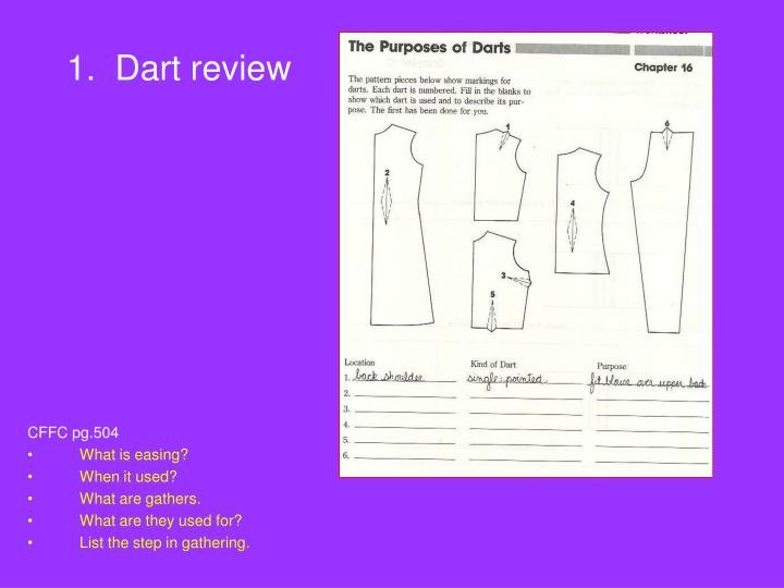 1.  Dart review