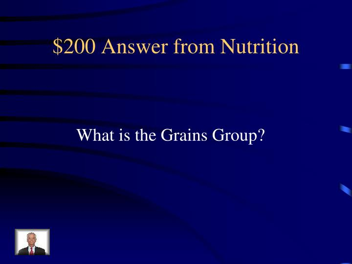 $200 Answer from Nutrition