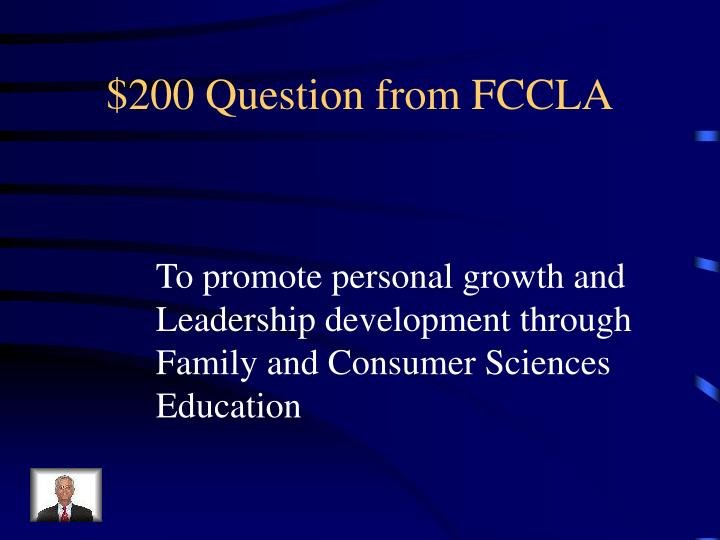 $200 Question from FCCLA