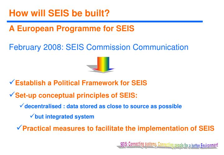 How will SEIS be built?