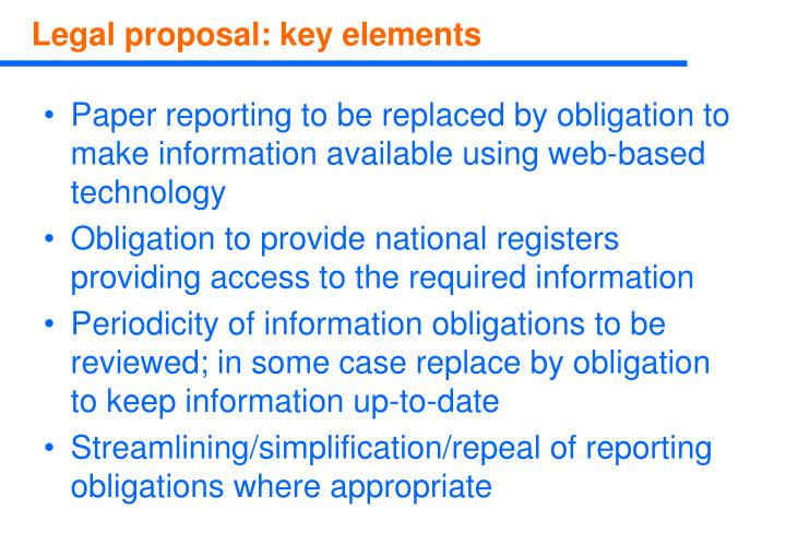Paper reporting to be replaced by obligation to make information available using web-based technology
