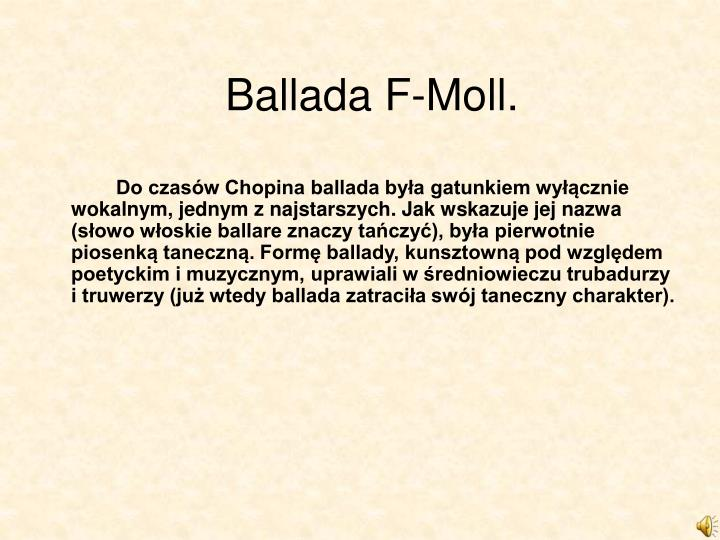 Ballada F-Moll.