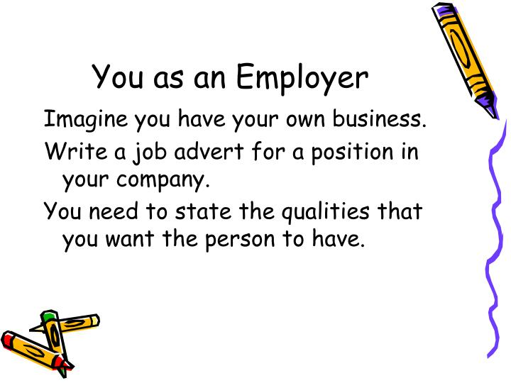 You as an Employer