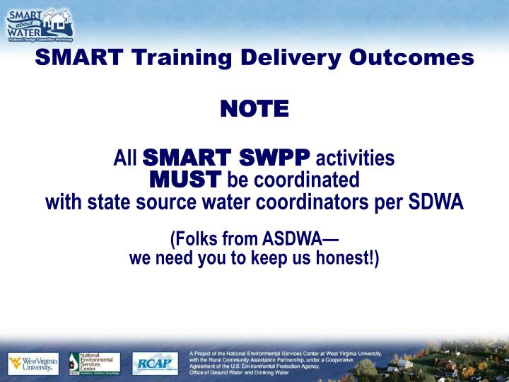 Smart training delivery outcomes