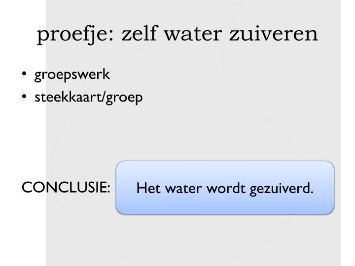 proefje: zelf water zuiveren
