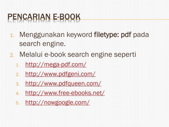 Menggunakan keyword