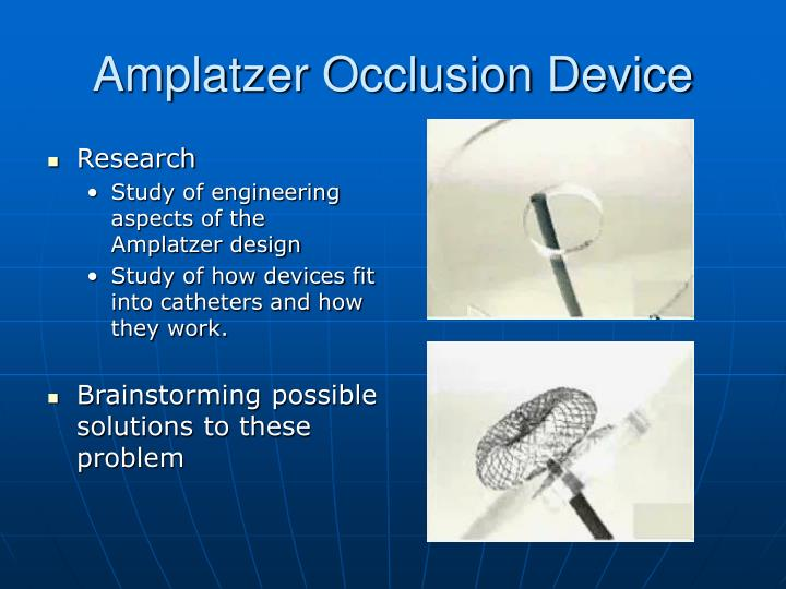 Amplatzer Occlusion Device