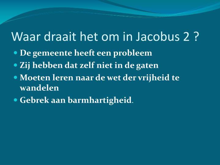 Waar draait het om in Jacobus 2 ?