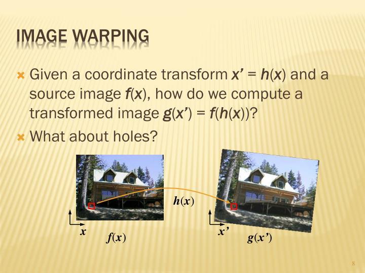 Image Warping
