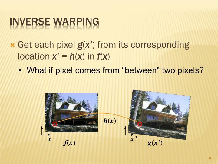 Inverse Warping