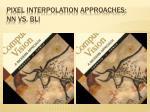 pixel interpolation approaches nn vs bli