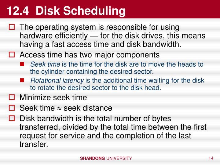12.4  Disk Scheduling