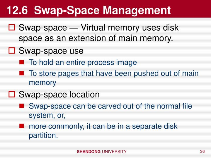 12.6  Swap-Space Management