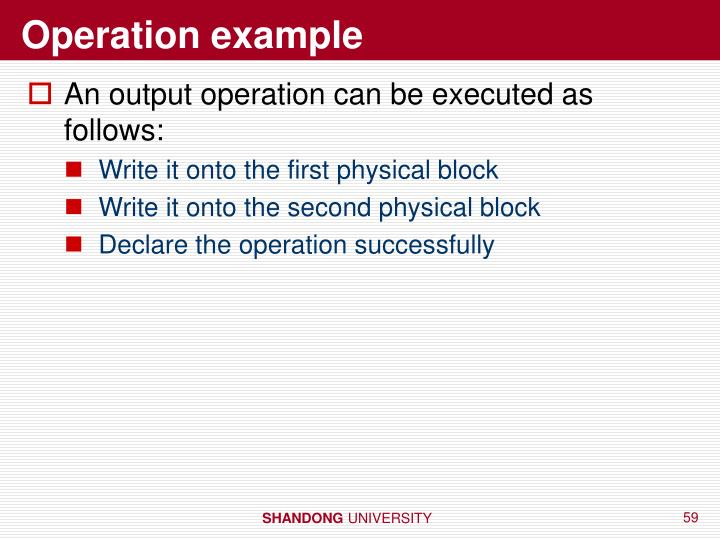 Operation example