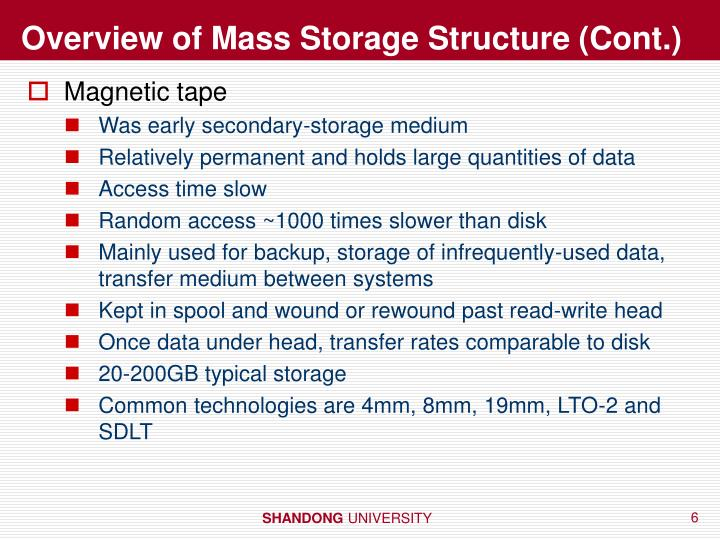 Overview of Mass Storage Structure (Cont.)