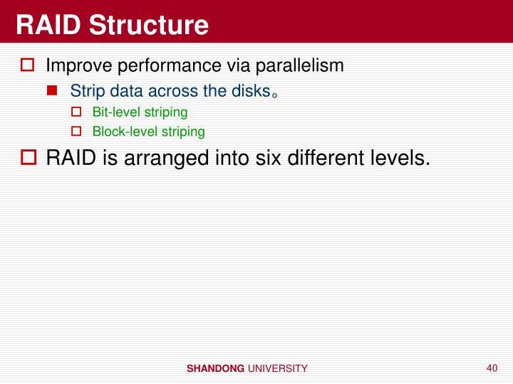RAID Structure