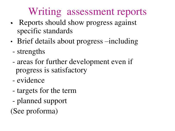 Nqt help writing reports