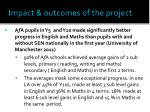 impact outcomes of the project