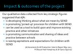impact outcomes of the project2