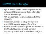 rbwm plans for a f a