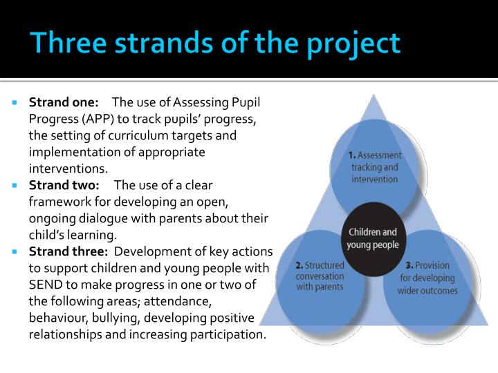 Three strands of the project