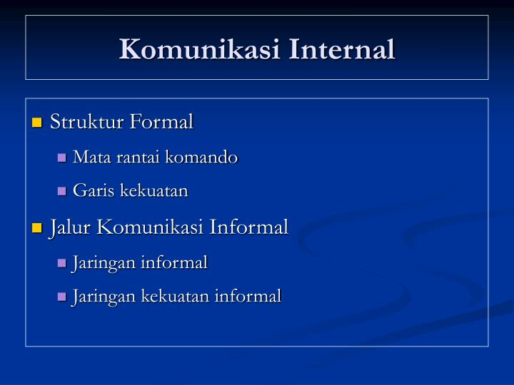 Komunikasi Internal