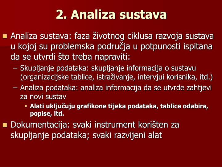 2. Analiza sustava