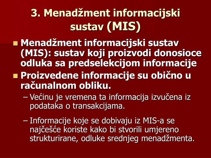3. Menadžment informacijski sustav