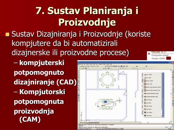 7. Sustav Planiranja i Proizvodnje