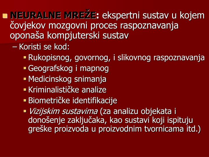 NEURALNE MREŽE