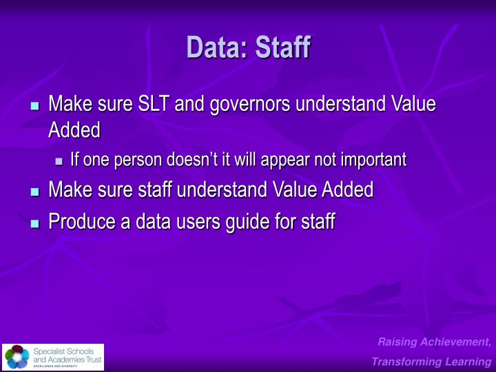 Data: Staff
