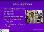 pupils celebration